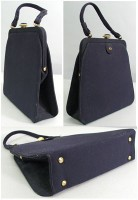 Vintage Navy Blue Faille Kelly: $39.49