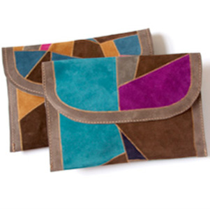 recycled suede pouch from manimal