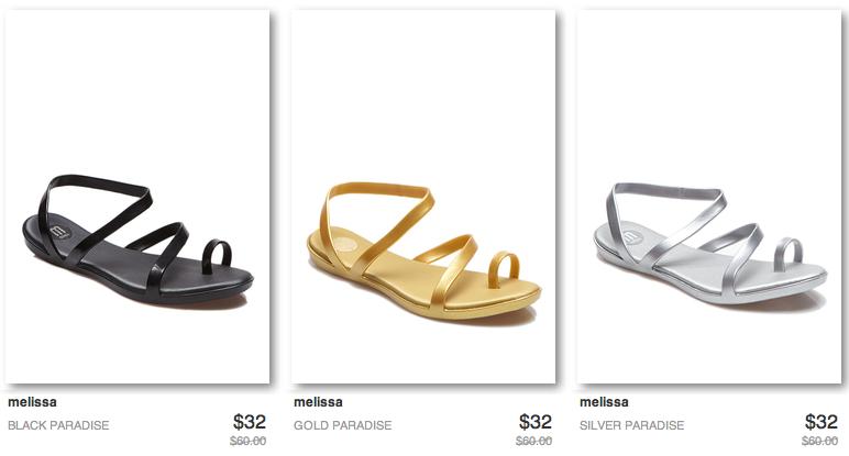 melissa shoes sale at ideeli